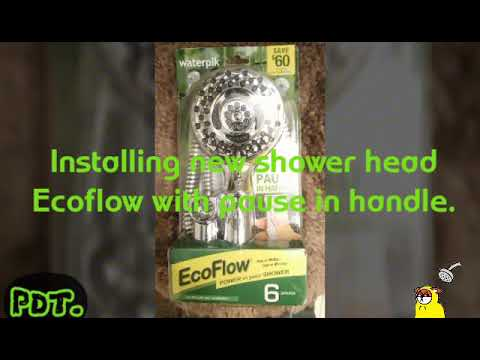Diy installing a waterpik Eco flow with pause in handle water saver shower head.