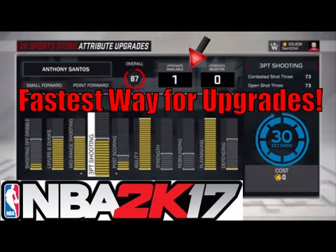 NBA 2K17 MyPlayer Fastest way to upgrade MyCareer