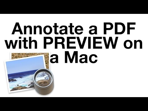 Annotate a PDF with PREVIEW on a Mac
