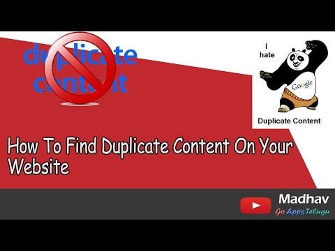 How To Find Duplicate Content On Your Website || Copied from Other Web Masters