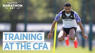 SMALL GROUP TRAINING AT THE CFA | Man City Training