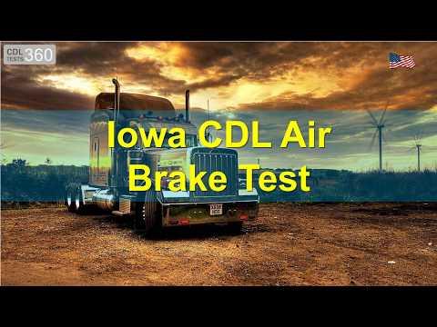 Iowa CDL Air Brake Test