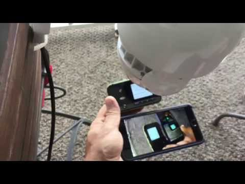 Connect a wifi PTZ wireless camera to a mobile hotspot device