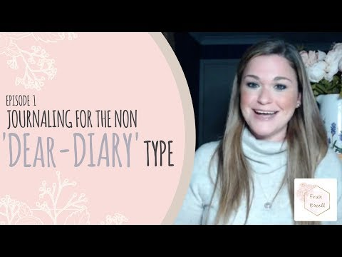 Journaling for the non 'Dear-Diary' type