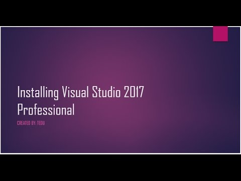 Cách cài đặt Visual Studio 2017 - [How to setup Visual Studio 2017 Professional]