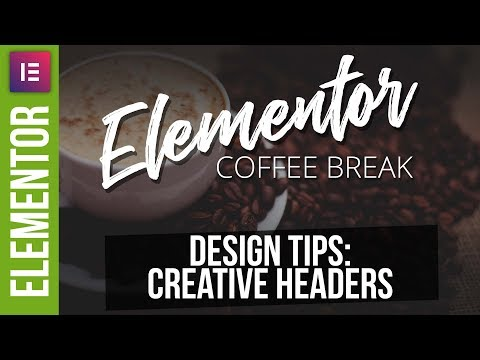 Creative Wordpress Headers with Elementor
