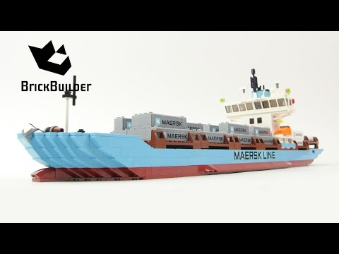 Lego Creator 10155 Maersk Line Container Ship - Lego Speed Build