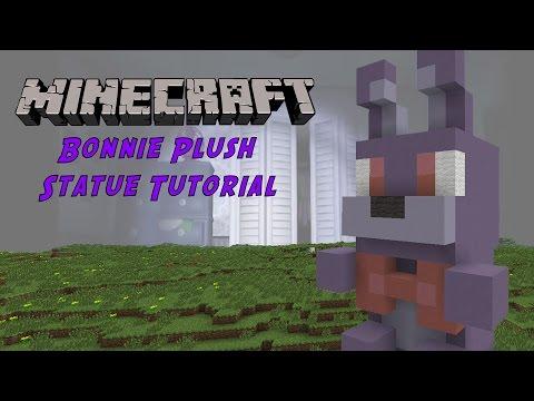 Minecraft Tutorial: Bonnie Plush Toy (Five Night's At Freddy's) Statue