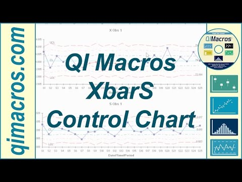 Create an XbarS Chart in Excel Using the QI Macros SPC Software