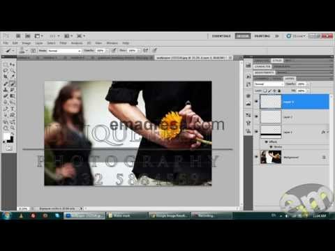 Water Mark your Images with Photoshop Urdu Tutorials by Emadresa.com