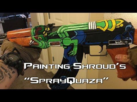 Hand Painted CSGO Skins - Shroud's