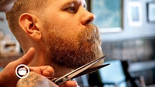 Classic Haircut and Beard Trim at Old School Barbershop