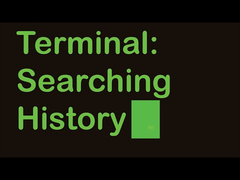 Terminal Tips: Searching Through History