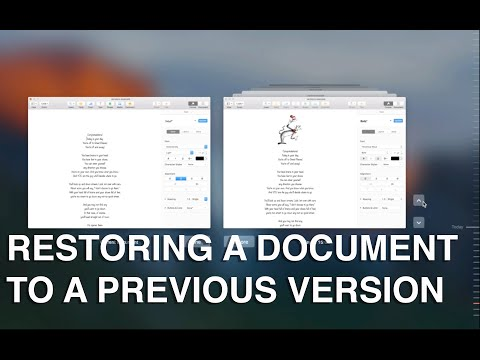 How to restore a previous version of a document in Pages on Mac OS X - Apple Training