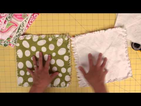 How to prep and cut squares for a rag quilt