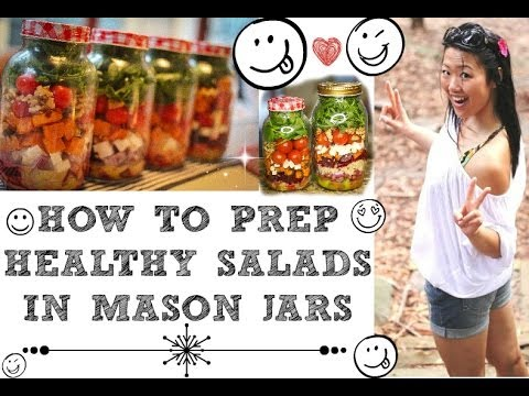 ULTIMATE GUIDE TO SALAD PREPPING IN MASON JARS (How to food prep the perfect salad in a jar)
