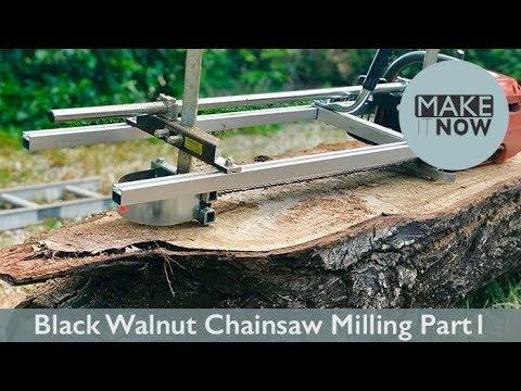Black Walnut Chainsaw Milling - Part 1