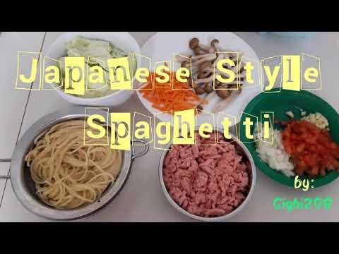 Japanese style (wannabe) spaghetti