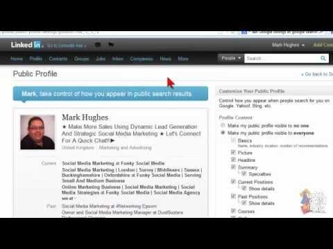 LinkedIn Profile Visibility Setup