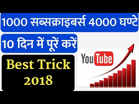 How To Increase 4000 Hours Watch Time And 1000 Subscribers Latest Trick