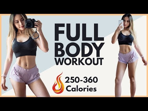 Burn 250-360 Calories & LOSE Love Handles! | Full Body Workout Routine