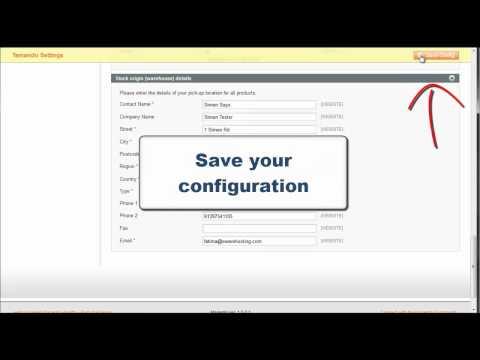 Magento Temando - How do I set a default shipping address