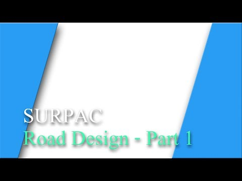 Road Design Surpac 01
