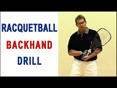 Secrets of Power Racquetball - Tips for Advanced Players - Backhand Drill featuring Marty Hogan