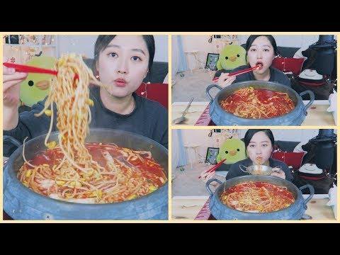 Spicy Cuttlefish Ramyun Recipe(오징어짬뽕) Mukbang | KEEMI★