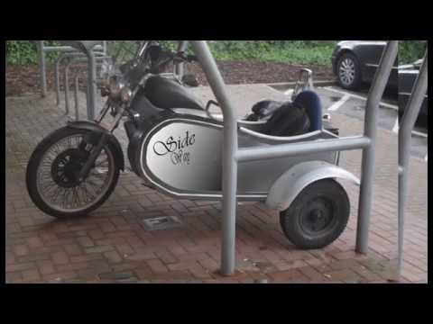 How to make motorbike sidecar from office furniture.