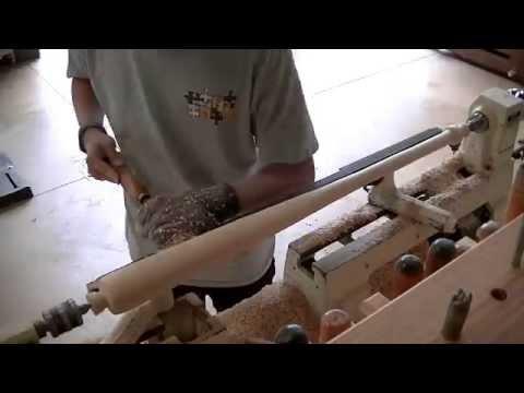Wood Baseball Bat Turning