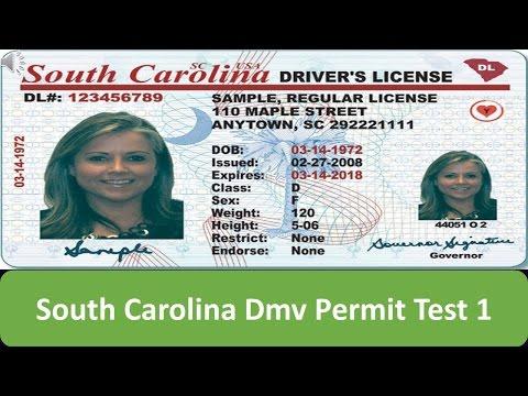 South Carolina DMV Permit Test 1