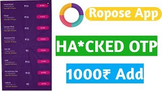 MAKE 1000 REFEREL EVERYDAY# ROPOSO APP NEW TRICK# EARN UP TO RS