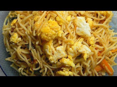 Egg Chowmein Recipe I Egg Chowmein Recipe In Hindi I एग नूडल्स हिंदी में