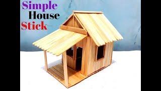 Cara Simpel Membuat Miniatur Rumah Sederhana Dari Stik Es Krim
