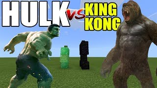 Hulk vs King Kong | Minecraft PE