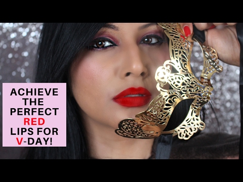 1 TOP RED LIPSTICK FOR INDIAN SKIN | HOW TO APPLY RED LIPSTICK FOR INDIAN/BROWN/OLIVE SKIN TUTORIAL