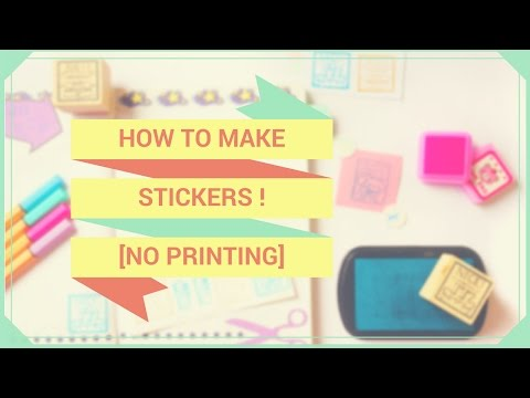 【DIY】 How to Make Stickers With Scrap Paper, No Printing ♥! (Sub Español)