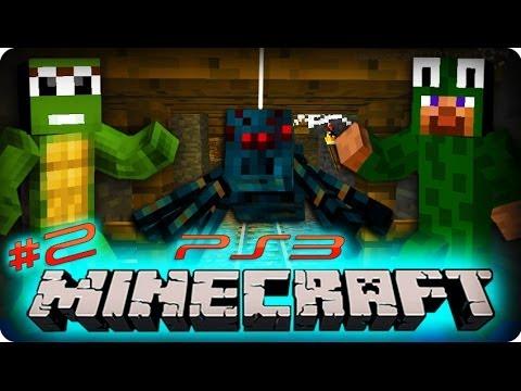 Minecraft Ps3 Gameplay - Part 2/25 - POISON CAVE SPIDERS! (Playstation 3 Minecraft)