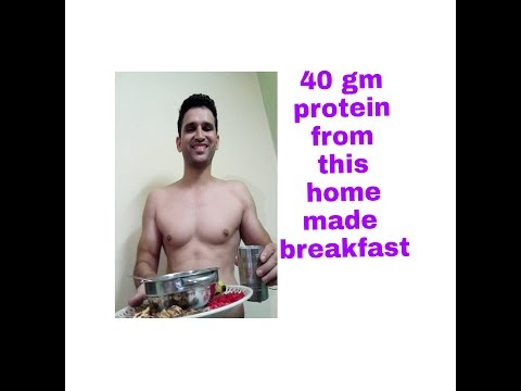 40 gm protein from your home made breakfast..