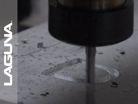 CNC Cutting Aluminum - 3D Letter Cutout on Router