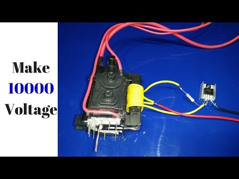 FlyBack Driver with mosfet Z44 make 10000 volt new project