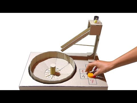 How to make Casino Roulette Game from Cardboard