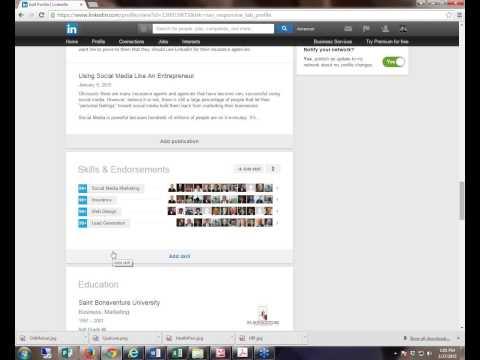 LinkedIn Endorsements Setup