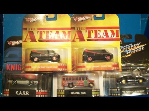 2013 Hotwheels Retro Entertainment Cars Haul @ TRUs