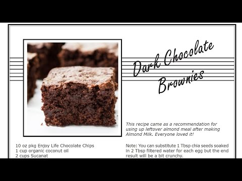 Solar Oven Recipes: YUMMY Dark Chocolate Brownies