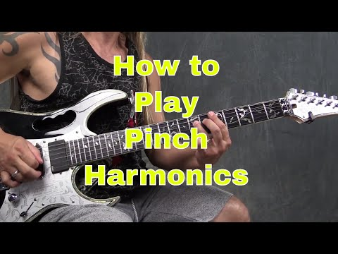 How to Play Pinch Harmonics on the Guitar - Steve Stine Guitar Lesson
