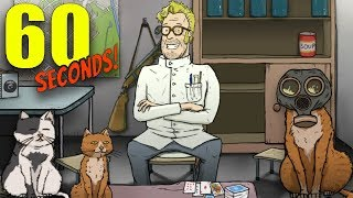 MAD SCIENTIST ENDING & MORE CATS IN THE BUNKER | 60 Seconds DLC (New Endings)