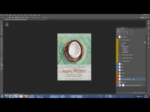 Birth Announcement Template Tutorial by MixPixBox