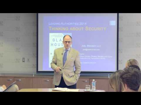 Insightful Joel Brenner speaks on Cyber Security and Protecting Corporate Value